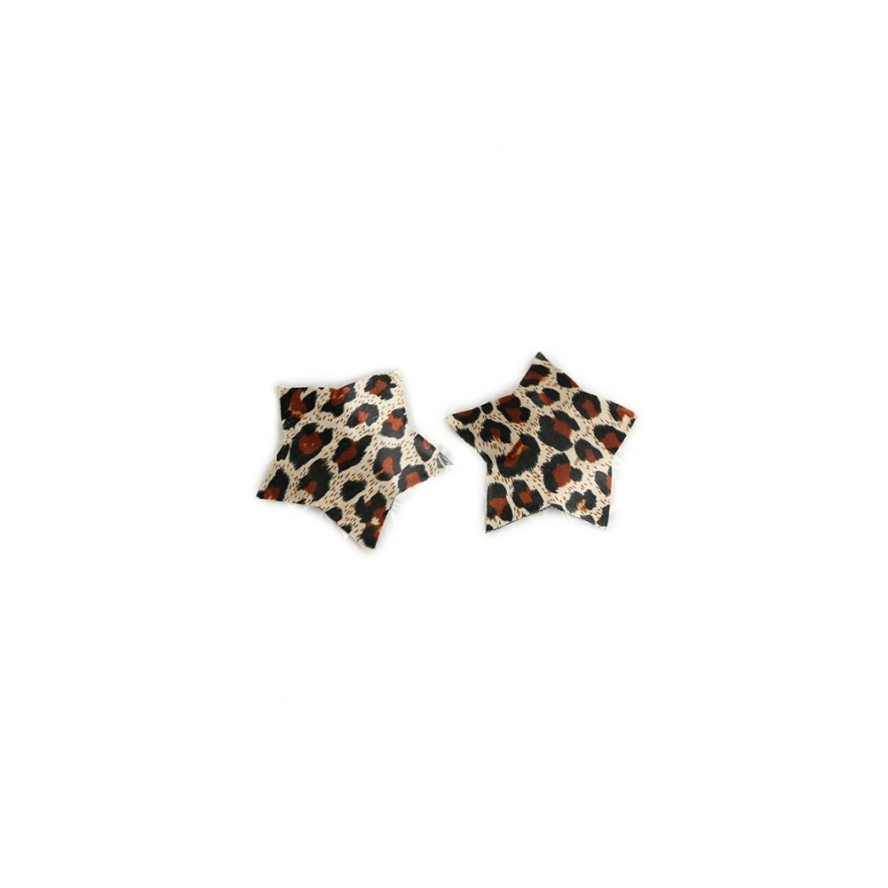Nipple Covers in Sternform mit Leopardmuster