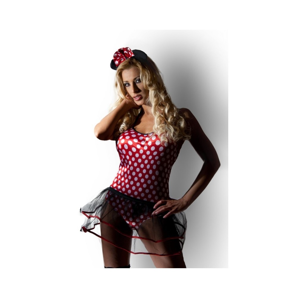 3044 Faschingskostüm / Halloween Kostüm Retro Pin Up Minnie Mouse Kostüm 36 ( S )