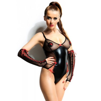 klassischer wetlook Body  S/M, L/XL