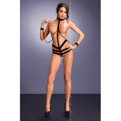 wetlook Body mit Spitzen Cups S/M, L/XL