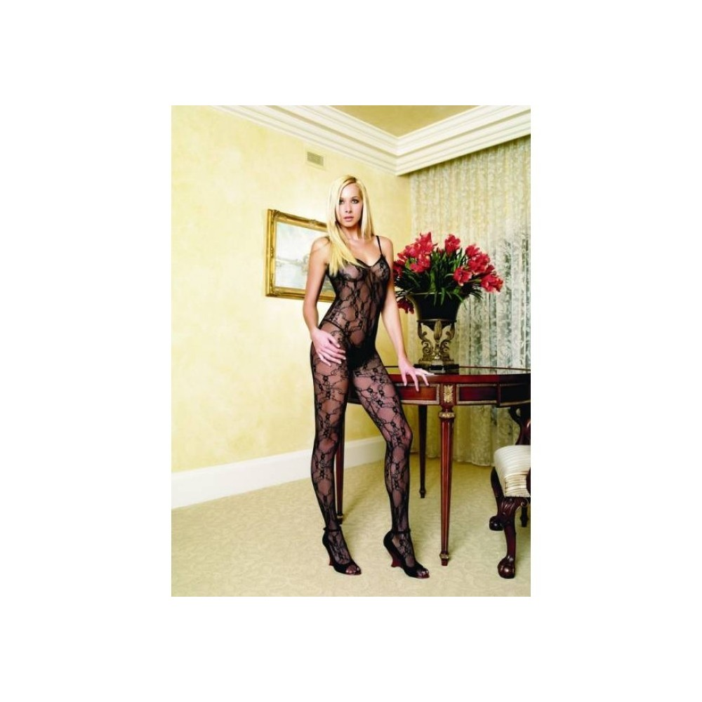Netz Bodystocking / Catsuit, rot - ein Leg Avenue Highlight