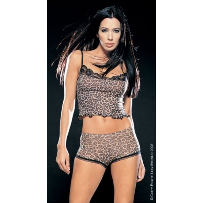 Top und Boyshort Set im Animalprint