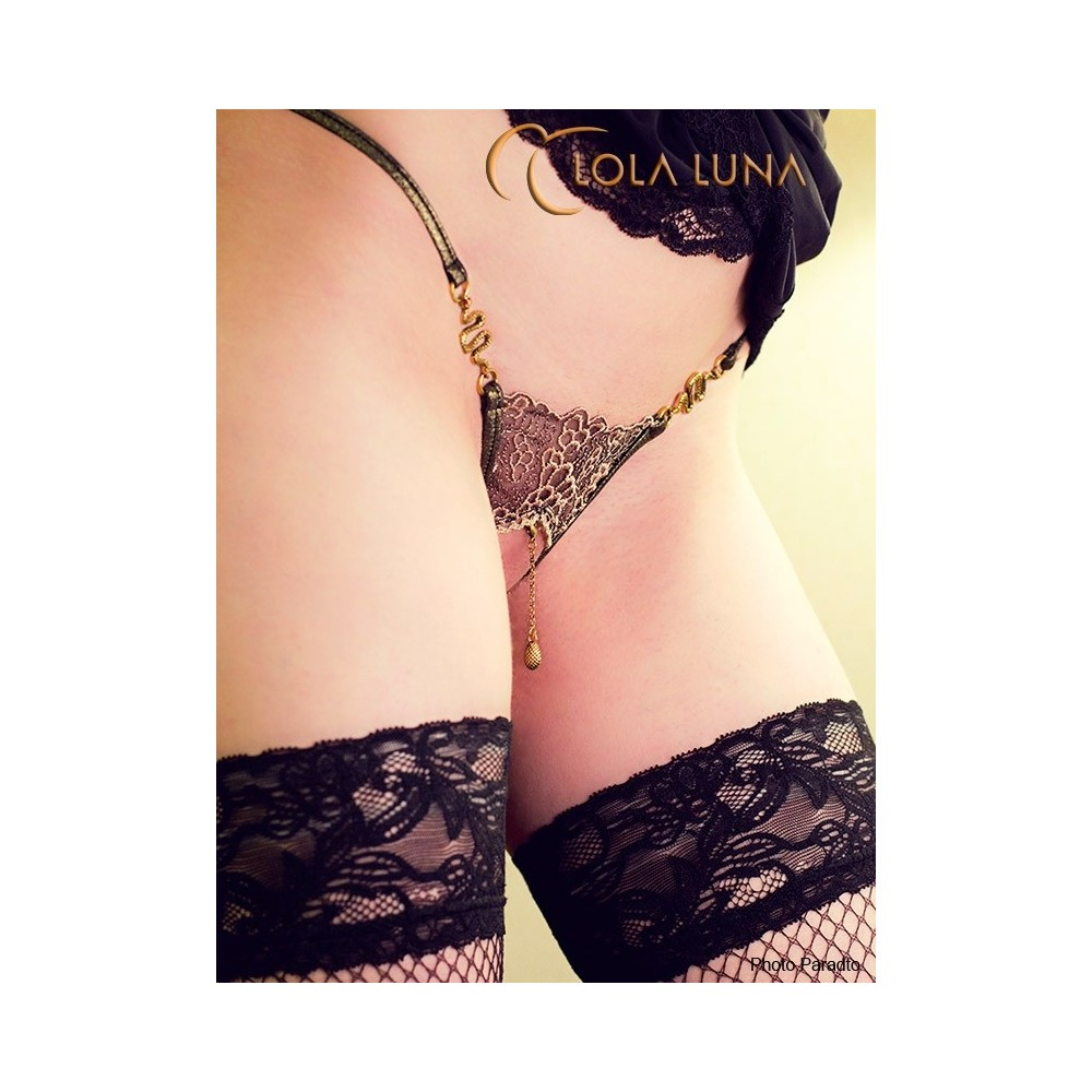 Luxus Dessous: Edel String open