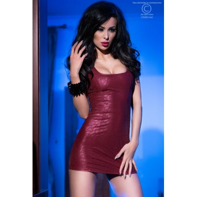 Wetlook Minikleid CR4018 bordeaux