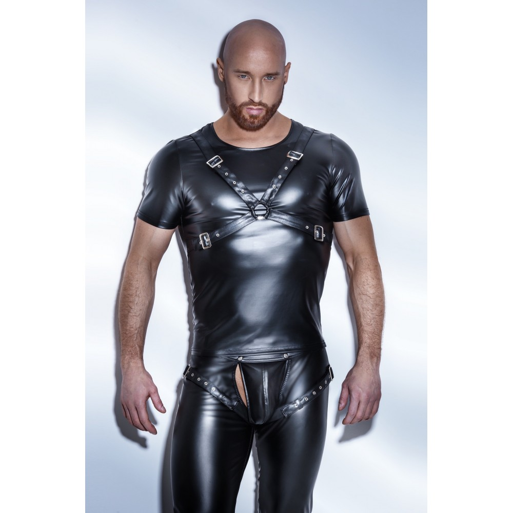 Wetlook Shirt im Harness Style